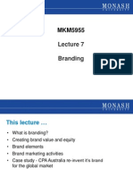 Lecture 7 - Branding