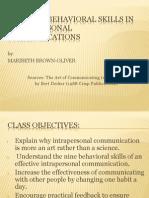 Behaviour Skill PPT