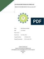 Laporan Praktikum Biologi Perilaku-sensorik Dan Motorik