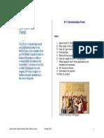 911 Scholarships Promotional Brochure