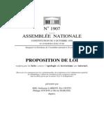 Proposition de loi renforçant la lutte contre l'apologie du terrorisme sur internet