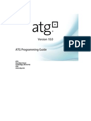 ATGProgGuide | Java Servlet | Kernel (Operating System)