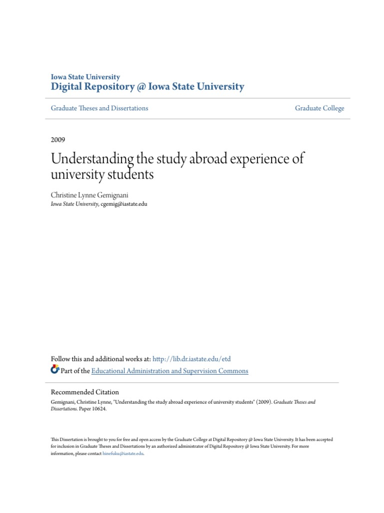Dissertation research abroad