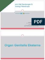 Anatomi Alat Reproduksi Fisiologi Menstruasi PM