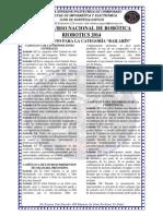 Reglamento Categoría Bailarín Riobotics 2014