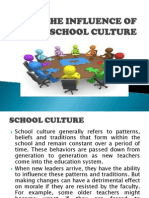 Week 7 - The Influence of School Culture