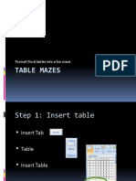 Table Mazes Lesson