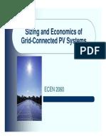 Grid Pv Economics