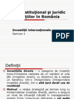 Seminar 2 Investitii Internationale