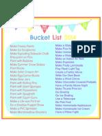 Summer Bucket List 2014 - edit