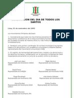 Declaracion Del Dia de Todos Los Santos