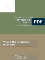 The Formalist Approach to Literature
