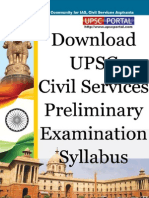 Download UPSC Civil Services Preliminary Examination Syllabus Www.upscportal.com