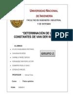 Informe 2 Van Der Walls Grupo 2