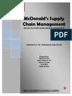 McDonald's SCM (Report)