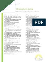 100 de Obiective in Coaching