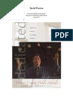 Online Portfolio - Warren 2014 - MHS