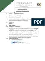 GUÍA 01 Algoritmica y Programacion