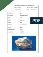 Laporan Kristalografi Dan Mineralogi