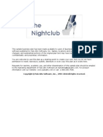 business plan of a nightclub