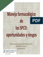 Manejo Farmacológico de Los SPCD
