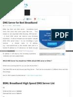 Bsnlspeedtest in Blog Bsnl DNS Address HTML
