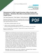 Homogeneous Liquid–Liquid Extraction of Rare Earths with the Betaine—Betainium Bis(trifluoromethylsulfonyl)imide Ionic Liquid System