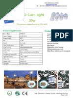 360 degree LED Corn Light 20w