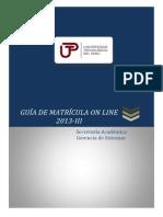 Guía de Matrícula on Line
