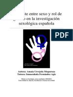 Contraste Entre Sexo y Rol de Genero en La Investigacion Sexologica Española Amaia Urrejola Muguruza