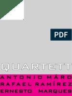 "Red Point Galerie, Julich, Deutschland. ""Quartett"" Antonio Máro, Rafael Ramírez Máro, Ernesto Marques, Alejandro Decinti"