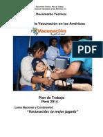 Plan de Trabajo Seman de Las Americas Iindomerica