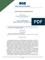 Ley 23-1992 de Seguridad Privada Consolidado (05!04!2014)