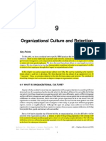 Organizational Culture and Retention