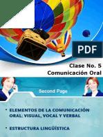Clase No. 5 Comunicación no verbal VVV.pptx