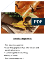 48891984 Role of Merchant Bankers in Pre Issue Management