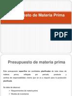Presupuestos de Materia Prima