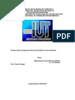 ensayo sobre el papel de la informática en la empresa