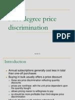 1st Price Discrimination