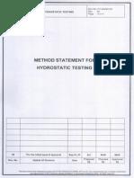 Hydrotest Procedure