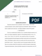 USDC-DCD 09-1295 RJL Memorandum Decision Strunk v USDOC Et Al