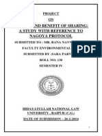 Environment Law Porject Sem 4 Sara Parveen