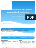 Amostragem - Agua Industrial Para Analise de Dureza