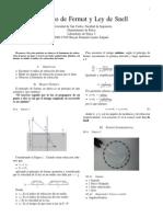 Principio de Fermat y Ley de Snell