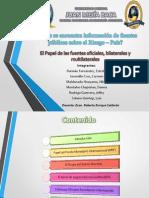 El Papel de Las Fuentes Oficiales, Bilaterales y Multilaterales