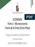 Clase 012 Bachillerato Microeconomia 03 Firma en El Corto Plazo