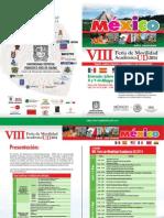 Plegable Programación Feria Movilidad Ud 2014