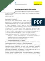 Protocolo Sedoanalgesia Relajacion 2013