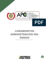 DG D 008 Lineamientos Administracion Del Riesgo v3
