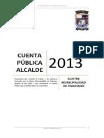 Cuenta Pública 2013 de Municipalidad de Paihuano
